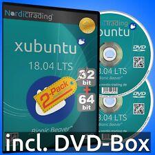 Xubuntu 18.04.5 LTS 2-Pack 32+64bit DVDs Linux Betriebssystem Markenware