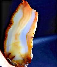 354g   Graceful Gem AGATE Slice Crystal Polished Mineral Specimen  F430