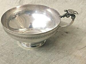 Cairo Egyptian Silver Engraved Design Figural Bird Handle