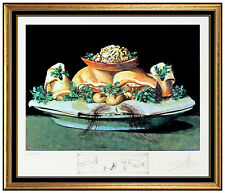 Salvador Dali Original Color Lithograph Hand Signed Les Diners De Gala Artwork