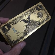 💥Amazing 💥<1899 Silver Certificate> 24K Gold Black Eagle $1 Rep. *Banknote*