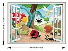 3D Insect Family Window Wall Decor Vinyl Decal Sticker Removable Nursery