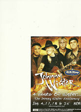 JOHNNY WINTER LOT OF 6 COLOR PROMO POSTCARDS NICE!