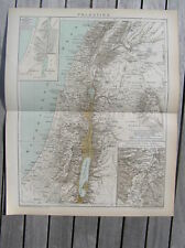 Antique map Israel Palestine / landkaart Palestina 1894