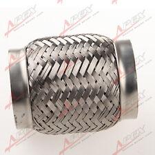 "2.5"" Exhaust Flex Pipe 4"" Length Stainless Steel Coupling Interlock"