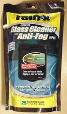 Rain-X Glass Cleaner Anti-Fog Wipes for Car Care VW Mazda Nissan Toyota Subaru