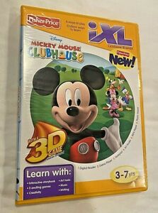 **VERY NICE** Fisher-Price iXL Learning System MICKEY MOUSE CLUBHOUSE CD-ROM