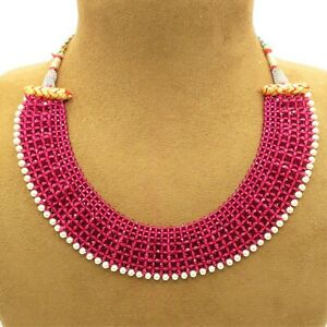 Choker Necklace Bollywood Bridal Indian Pearl Ethnic Partywear Wedding Jewelry
