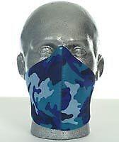 Bandero Biker Perforated Custom Neoprene Face Mask Electric Blue Camo BC21745 T