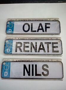 Mini Nummernschild mit Namen Geschenk Auto