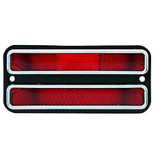 68-72 Chevy GMC Truck Rear Red Side Marker Light Lamp w/ Chrome Trim & Gasket