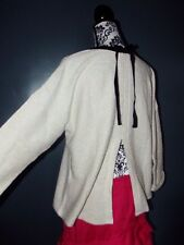 PULL PREPPY MAILLE MOUSSEUSE DOS OUVERT RUBAN NOEUD 44/46