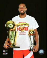 Kawhi Leonard Raptors MVP & Finals Trophies 2019 NBA Finals Champions 8x10 Photo