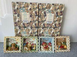 Cherished Teddies - Summer, Winter, Autumn & Spring Shadow Boxes