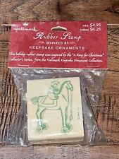"""Hallmark Rubber Stamp Design Inspired by """"A Pony For Christmas� 1998 New"""
