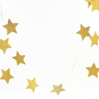 Gold Glitter Star String Bunting Garland Curtain Wedding Birthday Party Decor ;