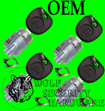 Express Savana Van 01-07 OEM Set of 4 Door Lock Key Cylinder Tumbler 4 GM Keys