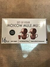 Willow & Everett Pure Copper Moscow Mule Mugs w copper shot, set of 2