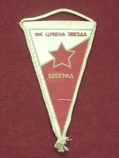 SERBIA FOOTBALL CLUB FK RED STAR BELGRADE PENNANT , FLAG - SOCCER CRVENA ZVEZDA