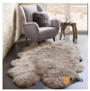 Real Natural Sheepskin Rug Cushion Fluffy Fur Rug   Very Soft