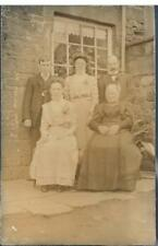 PRIVATE RP POSTCARD A FAMILY PORTRAIT C1908 - PROBABLY YORKSHIRE