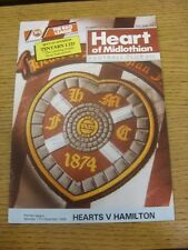 17/12/1988 Heart Of Midlothian v Hamilton [Autographed On Front By: Kenny Black]