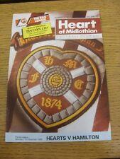 17/12/1988 Heart of Midlothian V Hamilton [dédicacé sur le devant par: Kenny Black]