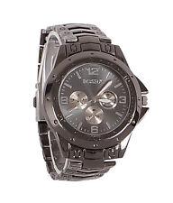 New Stylish Sober Wrist Watch for Men Black Dial - SMROSFBL