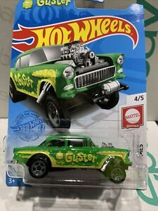 hot wheels Guster '55 Chevy Bel Air Gasser Green 2021 E Box New Release