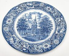 Staffordshire - Liberty Blue - Dinner Plate(s) - Independence Hall - England