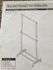 Grey And Chrome 2 Tier Clothes Rail