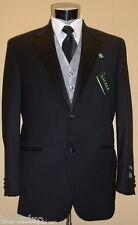 NEW RALPH LAUREN Black Wool Wedding Tuxedo FREE Vest/Bo 42 Short 42S Tux Suit