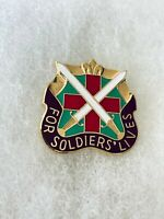 Authentic US Army 85th Combat Support Hospital DI DUI Unit Crest Insignia G-23