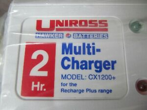 UNIROSS MULTICELL 2 HR NI-CAD CHARGER C/W 13a PLUG, MODEL CX1200, SEE LISTING