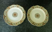 More details for two 19th century wedgwood mosiac  patterned hand-painted plates - dated 1886.