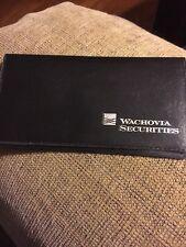 Checkbook Cover Vinyl (New) Wachovia Securities