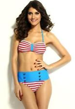 Unbranded Nylon Hand-wash Only Striped Swimwear for Women