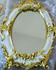 BEAUTIFUL SMALL DECORATIVE FREE STANDING MIRROR  PRETTY DESIGN  DOLLHOUSE,MAKEUP