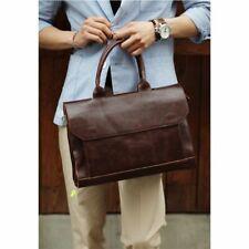 Retro Mens Briefcase Crazy Horse Leather Business Messenger Laptop Bags Handbag