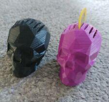 Skull Shape Guitar Plectrum Holder Pleck Pluck Holder x 2 Pick Your Colour