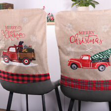 Christmas Dining Chair Back Covers Home Party Xmas Chair Table Decoration