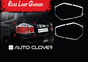 Chrome Tail Lamp Cover 4p 1Set For 11 12 Chevy Orlando 4d