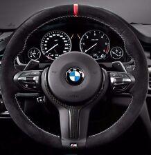 BMW OEM F07 F10 F06 F12 F13 M Performance Alcantara Steering Wheel Red Stripe