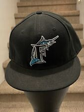 Florida Marlins New Era 59fifty Black Fitted Hat Size 7 1/2