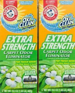 2Pk Arm & Hammer EXTRA STRENGTH Carpet Odor Eliminator + Oxy Clean ~ FREE SHIP !