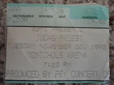 judas priest concert ticket stub mcnichols arena Denver Co. Nov.22, 1990