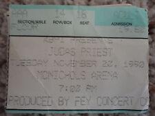judas priest concert ticket stub mcnichols arena Denver Co. Nov.22, 1990