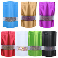 100pcs Mylar Smell Proof Bags Resealable Stand Foil Pouch Food Packaging 4*6inch