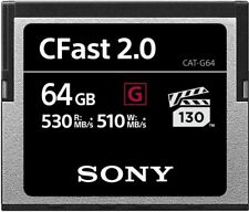 64GB Sony CFast G Series Memory Card - Speed Rating (up to 530MB/sec)
