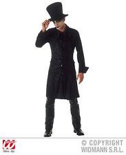 """HALLOWEEN CARNEVALE COSTUME VETSITO IL CORVO """"THE RAVEN"""" UOMO TAGLIA L"""